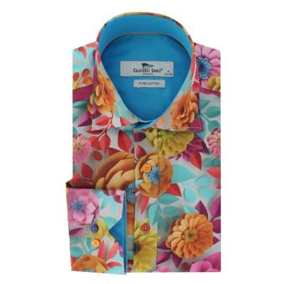 Overhemd lange mouw, paper flower garden