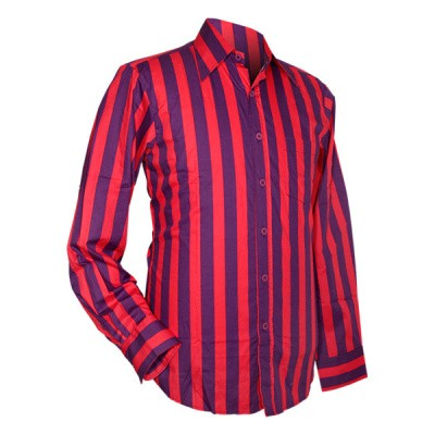 Foto van Chenaski - overhemd seventies, Stripes, violet en pink
