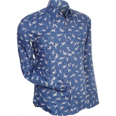 Foto van Overhemd Cowboy, Crane, blauw