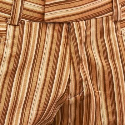 Foto van Broek recht model met bruine strepen