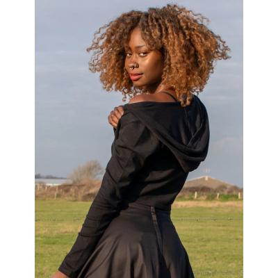 Foto van Collectif | Cardigan Padme Star met capuchon zwart