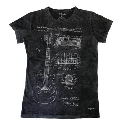 Foto van T-shirt T.M. Mccarty 1955 guitar, stonewash