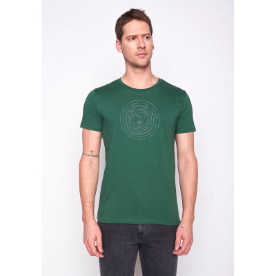 Foto van Green Bomb | T-shirt groen Outer Space Record bio katoen
