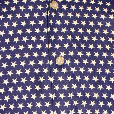 Foto van Chenaski | Blauw wit seventies overhemd Stars
