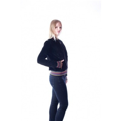Foto van Sportjas Bebe zwart stretch fluweel