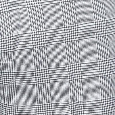 Foto van Pantalon Bakerstreet, zwart met witte ruit, wijde pijpen
