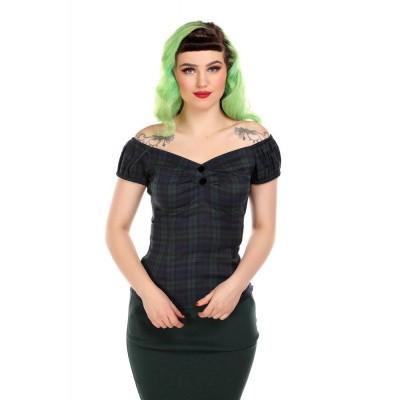 Foto van Top Dolores, Blackwatch, blauw groen geruit