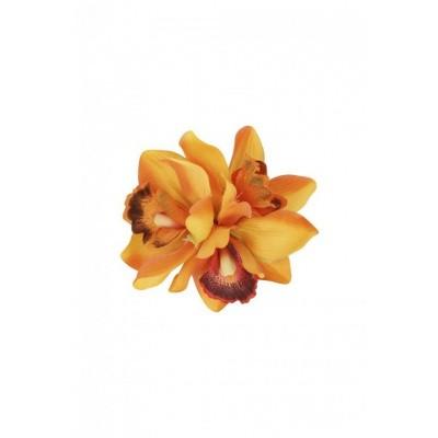 Foto van Haarclip / broche Aaliyah Orchid, oranje bloem