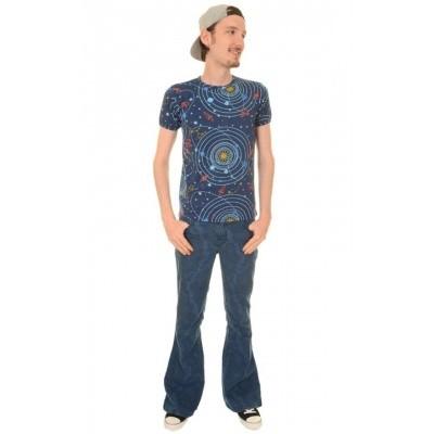 Foto van T-shirt retro rockets cosmic solar intergalactic