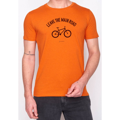 Foto van Green Bomb | bio T-shirt leave the road, heather orange