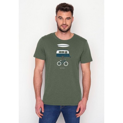 Foto van Green Bomb, T-shirt Nature Fun, bio katoen olive
