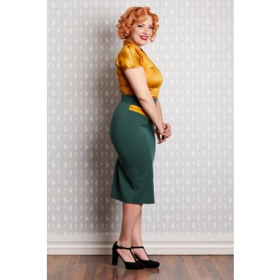 Foto van 0 | Kokerrok Eszter-Gia emerald met zakjes