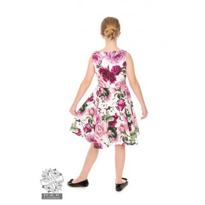 Foto van Hearts & Roses   kinderjurk Alice met roze bloemen