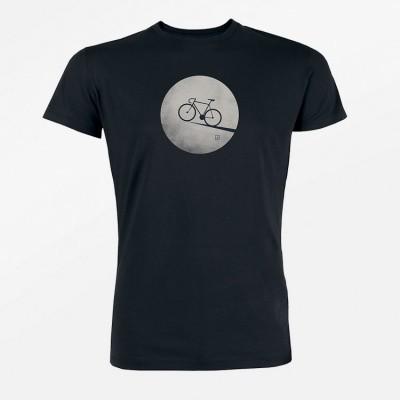 T-shirt Bike Moon, zwart