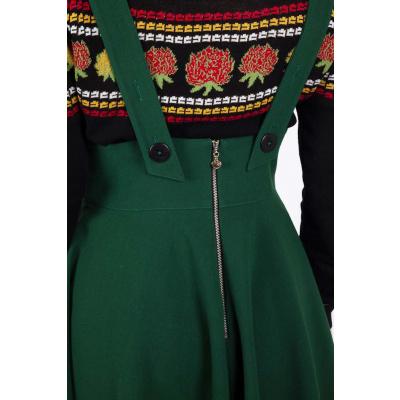 Foto van Voodoo Vixen | Groene overgooier rok Phoebe met hoge taille