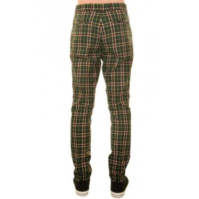 Foto van Pantalon met rechte pijp groene tartan