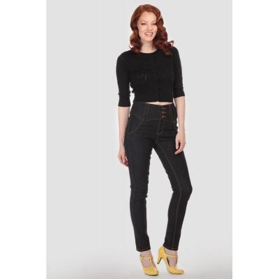 Jeans Rebel Kate, plain denim, hoge taille