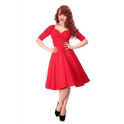 Foto van Jurk Trixie Doll, driekwart mouw, rood