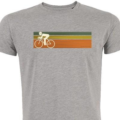 Foto van Green Bomb - T-shirt Bike speed, bio katoen, grijs