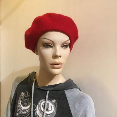 Foto van Klassieke baret van wol, rood