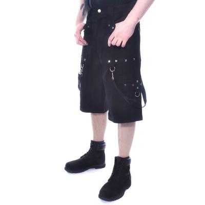 Foto van Korte broek Santtu zwart met straps