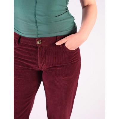 Foto van Ato Berlin - Ribcord broek met uitlopende pijp Newton Bordeaux