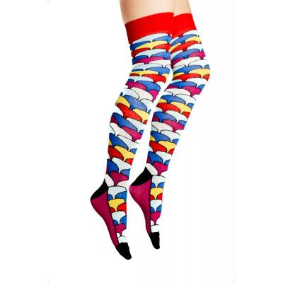 Foto van Flirt | Overknee sokken met gekleurde schubben