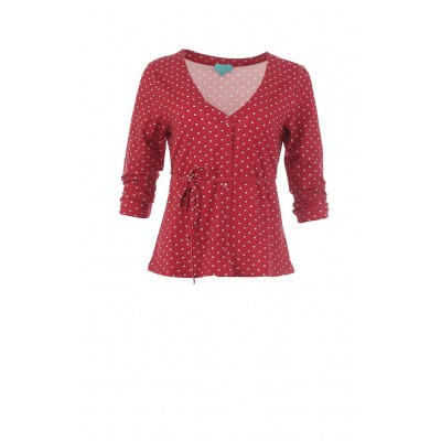 Cardigan Pearly, rood