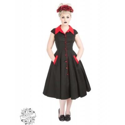 Foto van Jurk Meadow Zwart Rood Swing Dress