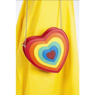 Foto van Handtas Heart Cross, regenboog