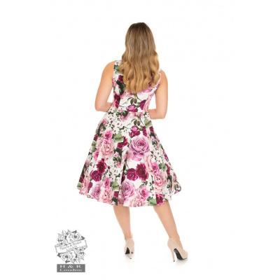 Foto van Hearts & Roses   Alice, swing jurk met roze rozen