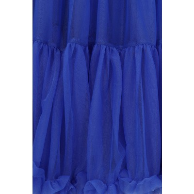 Foto van Petticoat Starlite over de knie met extra volume, royal blue