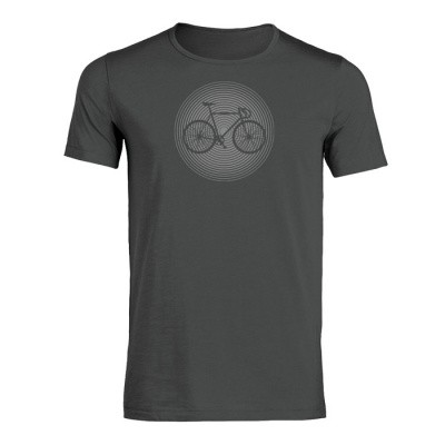 Foto van T-shirt Bike circle, bio katoen anthracite