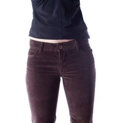 Foto van Ribcord broek met wijde pijp Newton Bruin