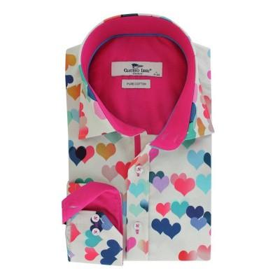 Foto van Overhemd met lange mouw, Love heart print