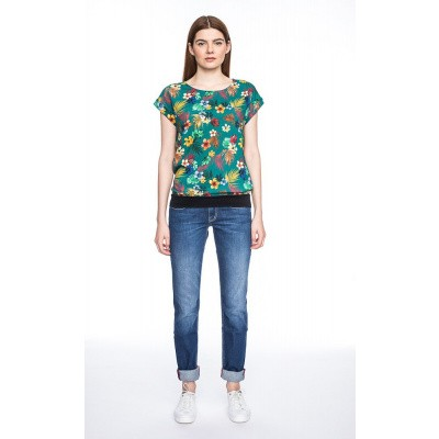 3484dd9540c Foto van T-shirt Leo, groen met bloemenprint ...