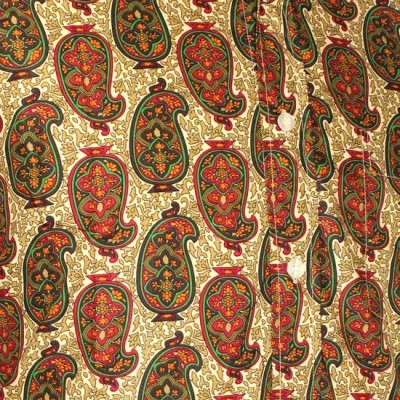 Foto van Chenaski - overhemd seventies, Indian paisley, creme groen