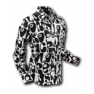 Chenaski | overhemd Seventies Moloko black white