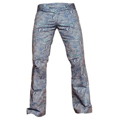 Foto van Chenaski | Blauwe paisley pantalon met uitlopende pijpen