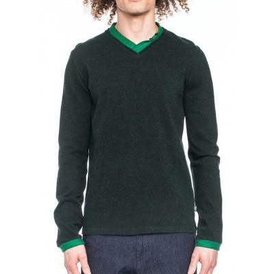 Foto van Ato Berlin-Shirt Fritze lange mouw, zwart met groene boorden
