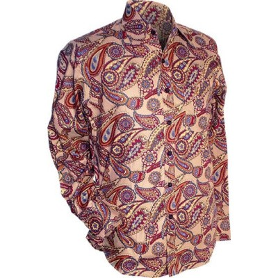 Foto van Overhemd retro, big Paisley ovaltine
