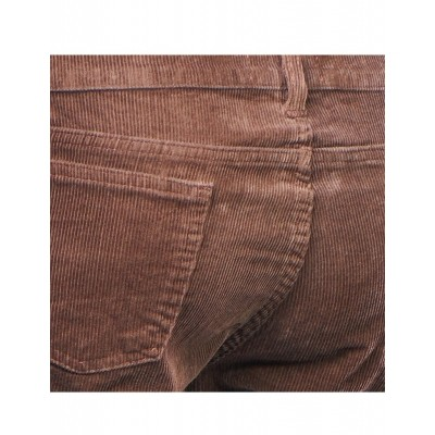 Foto van Chenaski | Ribcord retro broek bruin, wijde pijp lange lengte
