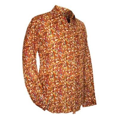 Chenaski - overhemd seventies, Paisley, creme