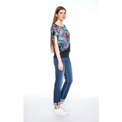 Foto van Shirt Mona, tropische bloemen print