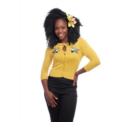 Cardigan Charlene Toekan, geel