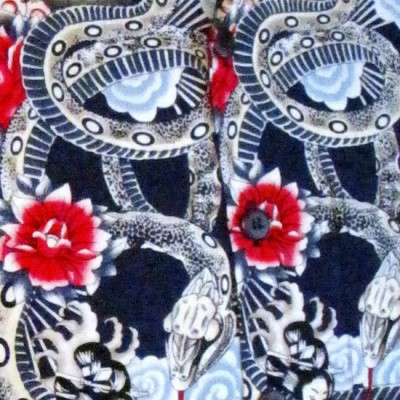 Foto van Overhemd korte mouw, Japanese tattoo style