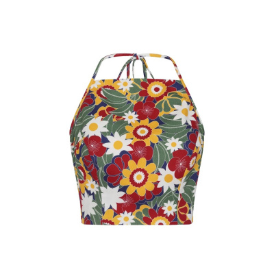Foto van Collectif | Top Monica Tropical met bloemen