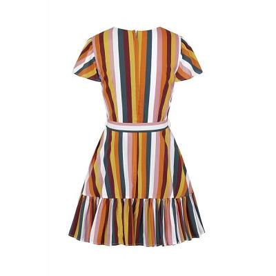 Foto van Jurk Molly Tropical Stripe, kleurrijk gestreept