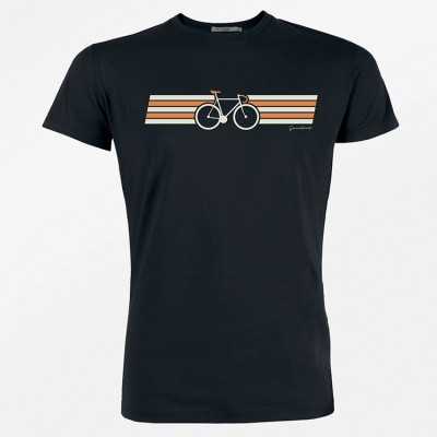 Foto van Green Bomb - T-shirt Bike Wings, bio katoen, zwart