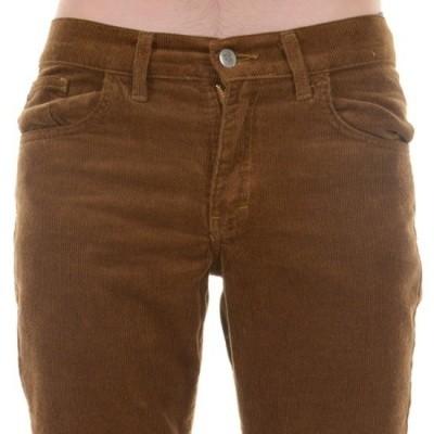 Foto van Ribcord broek, met wijde pijp tobacco bruin